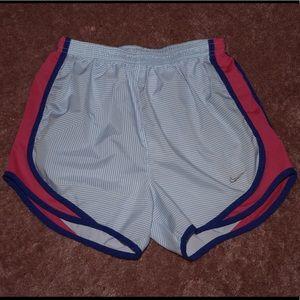 Nike dri-fit XS white, blue, pink, purple shorts